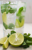Lime and mint drink — Stock Photo