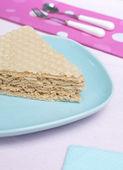 Waffle cake — Stock Photo