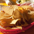 Tortilla chip in fast food mexican restaurant - Stock Photo