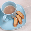 Biscotti cookies with cocoa - Stock Photo