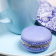 Purple french macaron cookie - Stock Photo