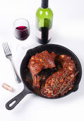 Wine with chicken and mushrooms — Stock Photo
