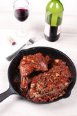 French chicken dish coq au vin — Stok fotoğraf
