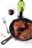 French coq au vin chicken isolated — Stock Photo