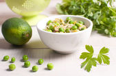 Risotto with green peas — Stock Photo