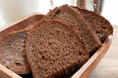 Rye bread slices close-up — Stock Photo