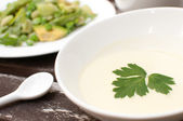 Creamy salad dressing — Stock Photo