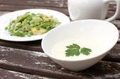 Creamy mayonnaise dressing for salad — Stock Photo