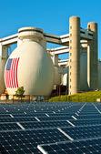 Eco-saubere energie aus sonne — Stockfoto