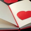 Empty notebook page with heart  — Stockfoto