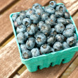Carton box with fresh ripe blueberry — Stock Photo #28504041