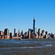 New York city Manhattan view from water — Stock Photo