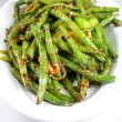 Green string beans chinese dish — Stock Photo