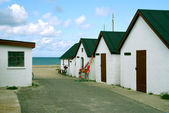 Fishermen's cottages in Denmark — ストック写真