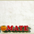 The word Tomate — Foto de Stock