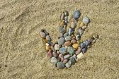 Stone hand — Foto de Stock