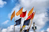 Fishery flags — Stock Photo