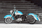 Motorbike in turquoise — Stock Photo