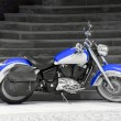 Motorbike in blue — Stock Photo #28489521