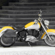 Motorbike in yellow — Stock Photo