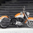 Motorbike in orange — Stock Photo #28489619