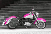Motorbike in pink — Stock Photo
