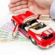 Stock Photo: Car finance
