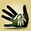 Caring Hands — Stock Vector
