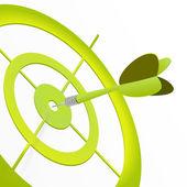 Green target — Stock Vector