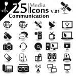 Communication Icons v.01 — Stock Vector #21888585