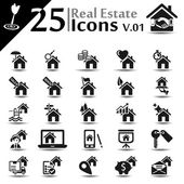 Real estate Icons v.01 — Stock Vector