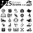 Garage Icons v.01 - Imagen vectorial