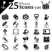 Photography Icons v.01 — Stock Vector
