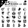Social media Icons v.01 — Stock Vector
