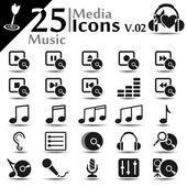 Media Icons v.02 — Stock Vector