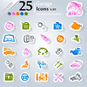 Garage Icons v.01 — Stock Vector