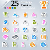 Strategy Icons v.01 — Stock Vector