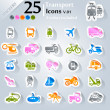 Transport Icons v.01 — Stock Vector #23565617