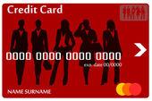 Credit card women — Stock Vector