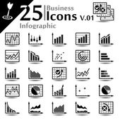 Business Infographic Icons v.01 — Stock Vector