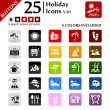 Royalty-Free Stock Vector Image: Holiday Icons v.01