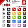 Real estate Icons v.01 — Stock Vector #24316265