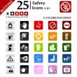 safety icons v.01 — Stock Vector