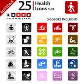 Health Icons v.01 — Stock Vector