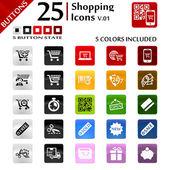 Shopping Icons v.01 — Stock Vector