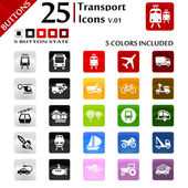 Transport Icons v.01 — Stock Vector