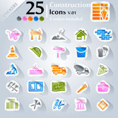 Construction Icons v.01 — Stock Vector