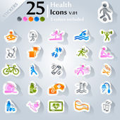 Health Icons v.01 — Stock Vector