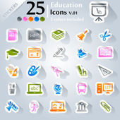 Education Icons v.01 — Stock Vector