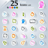 Time Icons v.01 — Stock Vector